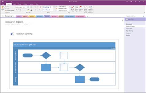 visio onenote add a visio diagram to a page in onenote onenote