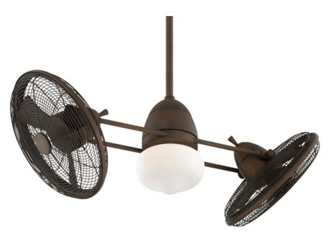 Dual Ceiling Fans With Lights Minka Aire One Light Restoration Bronze Dual Motor Ceiling Fan Restoration Bronze F602 Rrb From