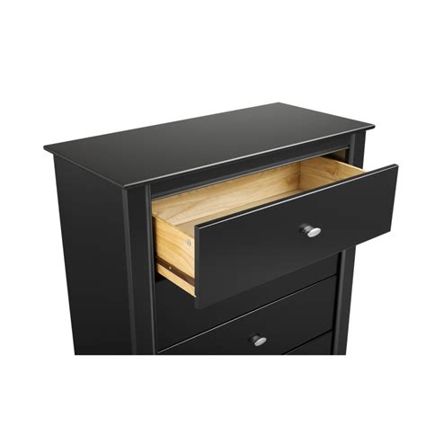 Black Nightstand With Drawers Black Kallisto 3 Drawer Nightstand