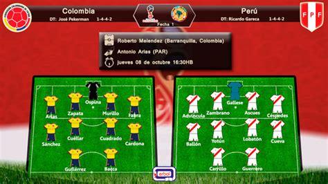 alineaciones colombia vs eliminatorias colombia colombia y per 250 salen al ruedo en pos triunfo erbol digital