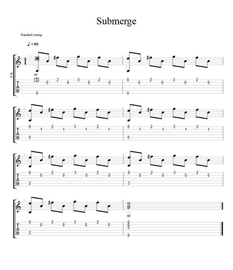 song guitar submerge easy classical song tab learnguitarinlondon
