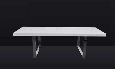 evg 835 extendable white dining table modern dining