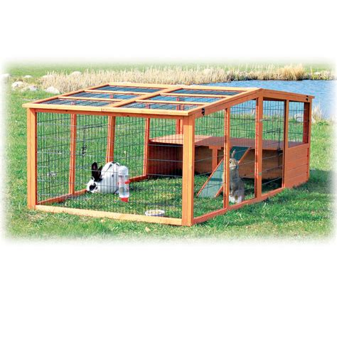 trixie natura pitched roof dog house petco trixie natura peaked roof outdoor rabbit run with shelter