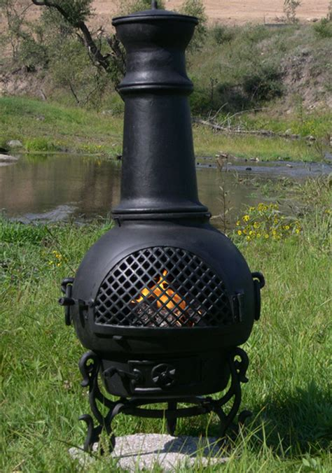 Chiminea Insert Chiminea Gatsby Style Cast Aluminum Outdoor Fireplace