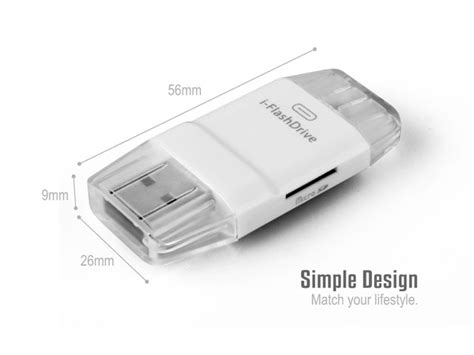New I Flashdrive External Storage Otg Card Reader For Apple Iphone 3 new i flashdrive otg adapter smart tf card reader for