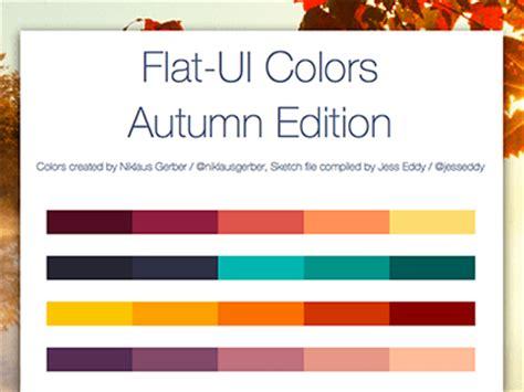 flat ui colors autumn edition flat ui colors autumn edition sketch freebie download
