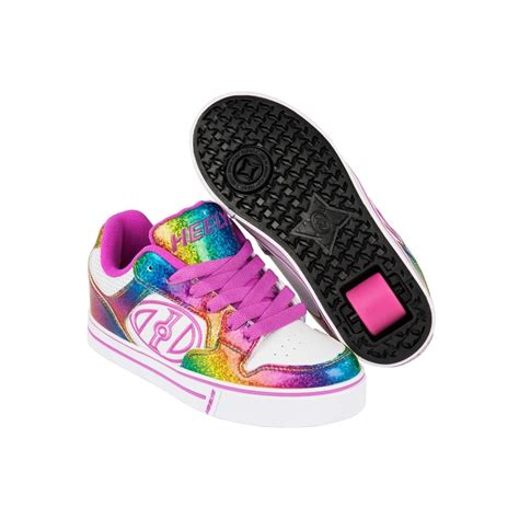 heelys shoes for sale motion plus white rainbow pink heely shoe