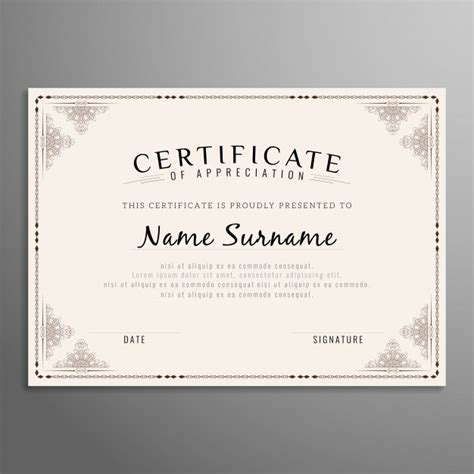 certificate design beautiful frameborder vectors photos and psd files free download