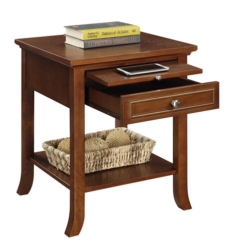 Tables That Slide by American Heritage Logan End Table With Drawer And Slide