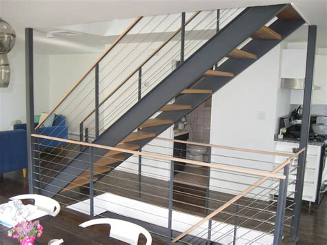 Cable Stair Railings Interior by Colonial Iron Works Iron Interior Handrails
