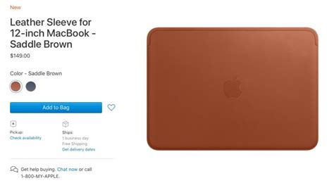 apple rumors apple adds new 12 inch macbook leather sleeve to online