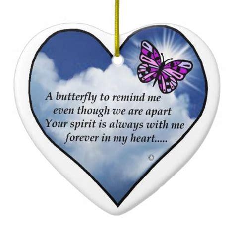 memorial butterfly poem ceramic ornament home loved