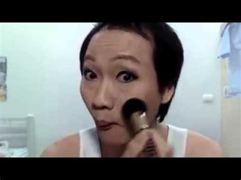 Eyeshadow Jadi Eyeliner transformasi pria pakai makeup jadi cantik hiddenskills