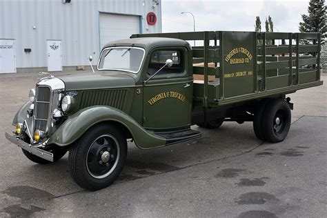 1 2 ton truck 1936 ford 1 1 2 ton stake bed truck 201006