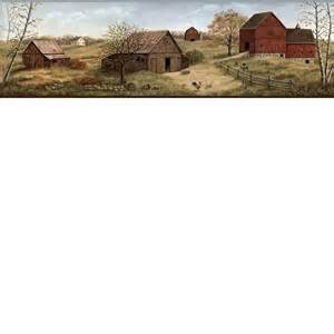 Horse Themed Bathroom Decor - country barn wallpaper border ffr65391b primitive farm border