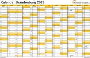 Kalender 2018 Feiertage Feiertage 2018 Brandenburg Kalender