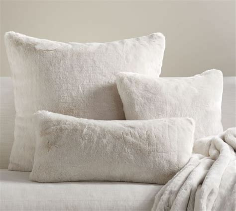 alpaca faux fur pillow cover pottery barn
