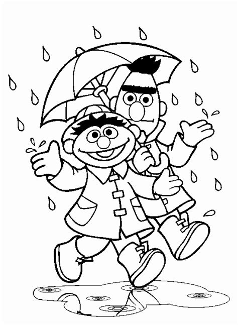 Sesame Street Clip Art Bert And Ernie Coloring Pages