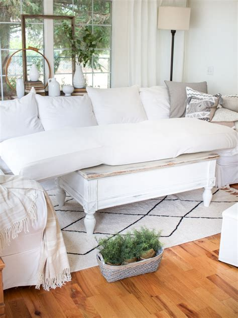 how to cover a couch with a sheet diy sheet slipcover for a sofa zevy joy