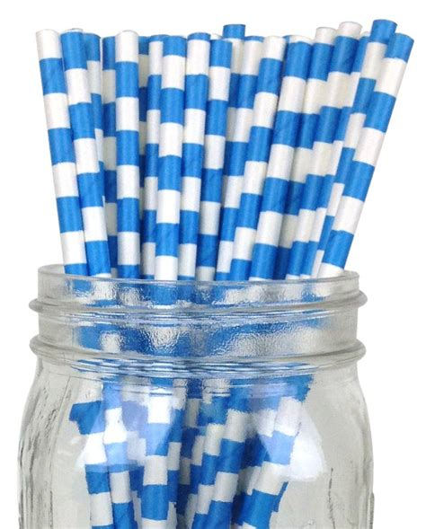 How To Make A Rugby Out Of Paper - rugby stripe paper straws 25pcs blue