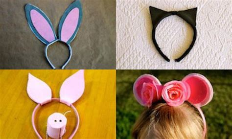 printable animal headbands make your own animal ears headbands kidspot