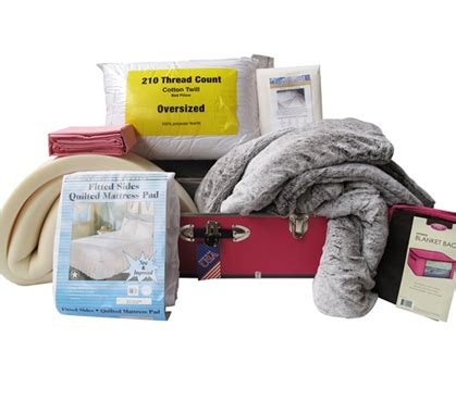 college bedding packages girls luxurious dorm bed set in a trunk college dorm
