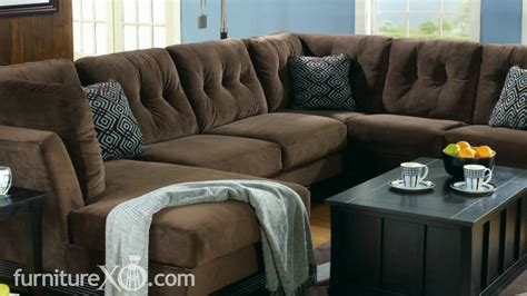 peyton espresso sectional living room set by signature