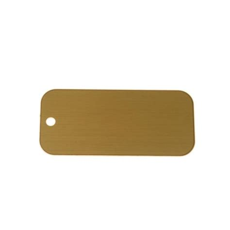 lacquered brass lacquered brass tag rectangle blank