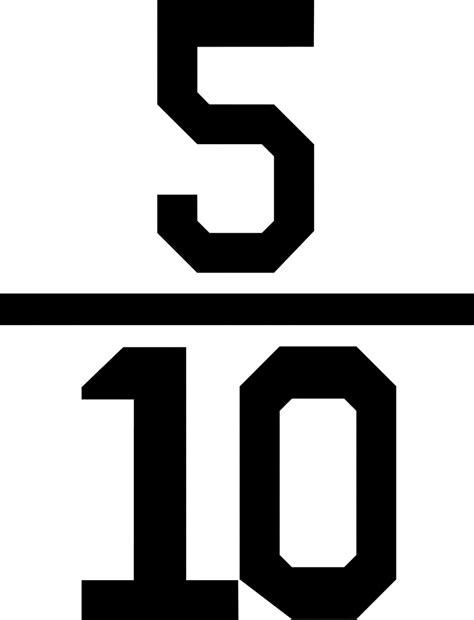 clipart etc numerical fraction 5 10 clipart etc