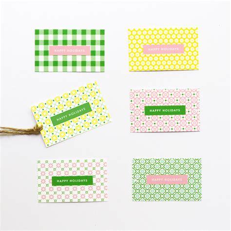 pattern gift tag free printable holiday gift tags