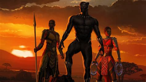 wallpaper black panther africa    full hd picture image