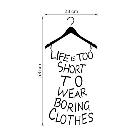 Fashion Illustration With Quote Modern And White Background Stock Illustration Is To Wear Boring Cloth Quote Wall Stickers Creative Dress Shape Vinyl Wall