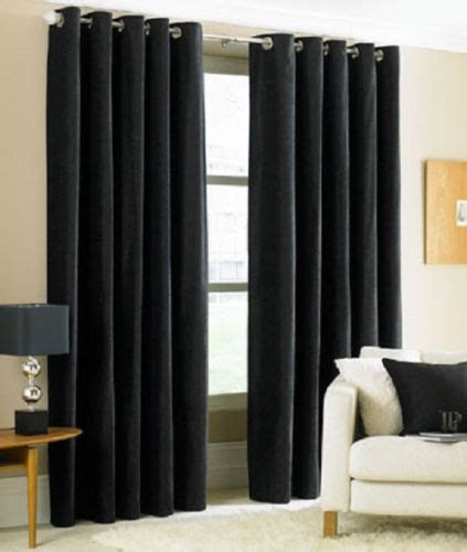 black blackout curtains two heavy thick panels foam blackout black grommet window