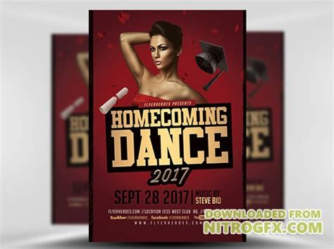 Flyer Template Homecoming Dance 2017 2 187 Nitrogfx Download Unique Graphics For Creative Homecoming Flyer Template