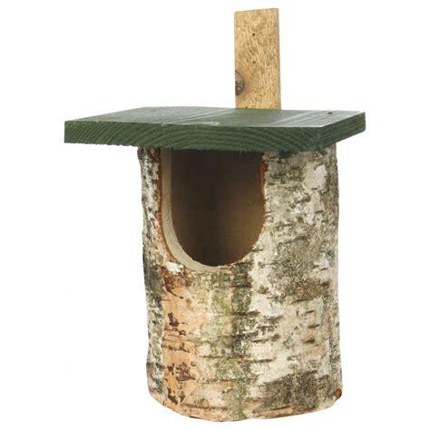 buy c j wildbird birch log wild bird nest box open front fsc