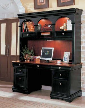 Black Desk With Hutch 1000 Ideas About Office Desk With Hutch On Desk With Hutch L Shaped Office Desk