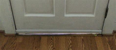 Interior Door Gap Fix by How To Fix Gap Front Door Threshold Doityourself