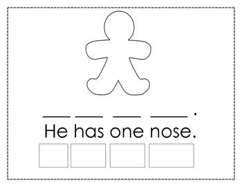 my gingerbread man printable book my little gingerbread man mini unit by