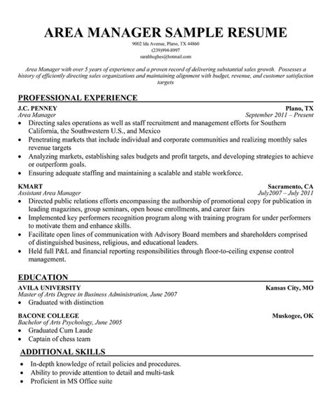 area manager cover letter sle resume painting contractor
