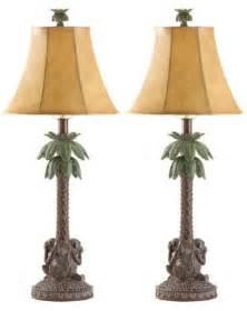 Desk Lamp Dollar Tree 1 Pair 2 Monkey Palm Tree Table Lamp Lighting Light W