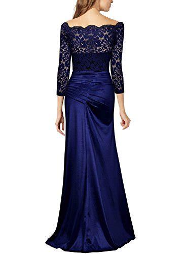 Maxi Shifa Blue Asli Dhabi miusol s retro shouler floral lace ruched bridesmaid maxi dress buy in uae