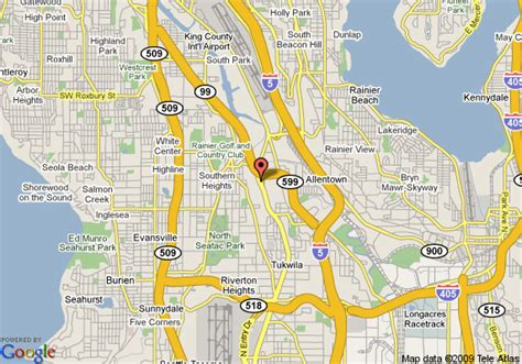 seattle map with airport days inn seattle tacoma international airport seattle