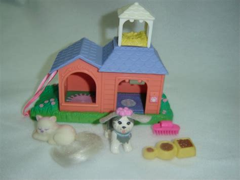 littlest pet shop dog house vintage 1995 kenner littlest pet shop garden tag pets on the move peach house w dog
