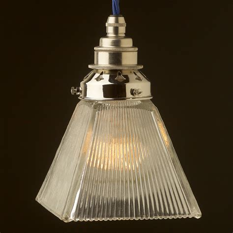 Pendant Light Box Holophane Box Glass Light Shade Pendant