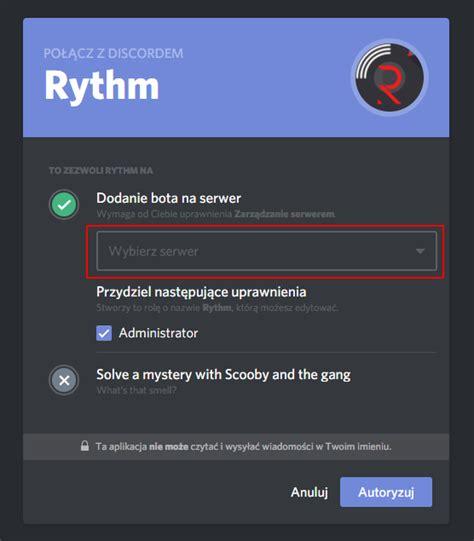 discord rythm bot jak dodać i używać bota muzycznego na discord