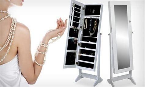 armadio portagioielli armadio specchio portagioie groupon goods