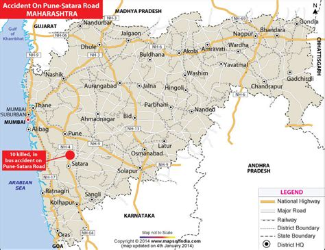 pune geographical map 10 killed in on pune satara road map in news