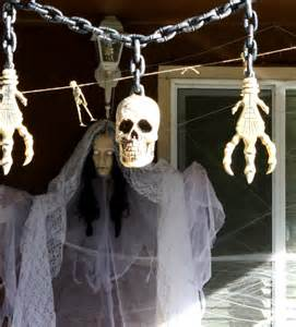 diy creepy decorations halloween porch decorations picture free photograph