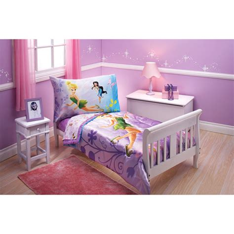tinkerbell bedding disney tinkerbell toddler baby 4 piece bedding set walmart com