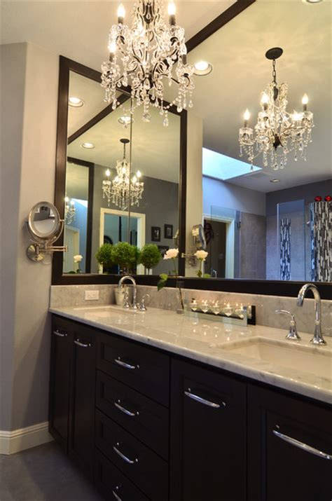bathroom chandelier lighting ideas master bathroom remodel contemporary bathroom portland by mountainwood homes